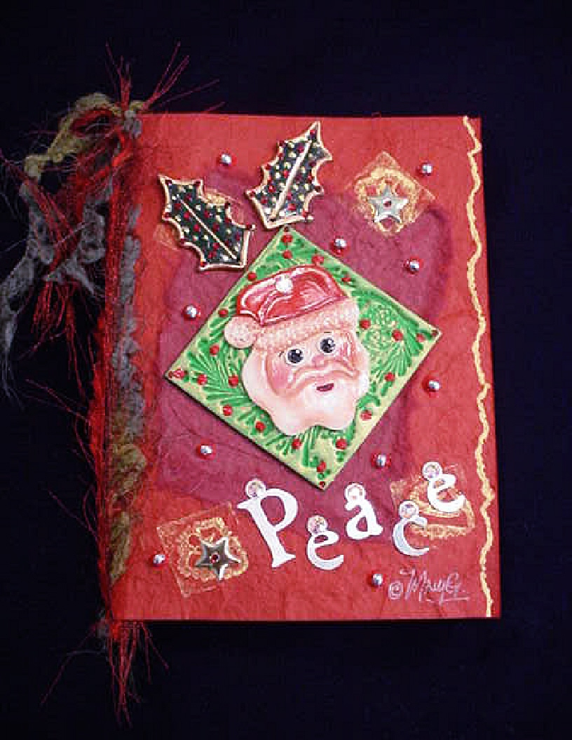 Christmas Handmade Greeting Cards-Santa Card Red