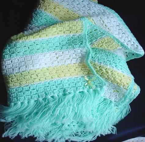 Ravelry: Crochet Shell Stitch Baby Blanket pattern by The