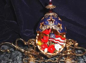 Patriotic Cinderella Carriage Decorated Egg-Eggypiece